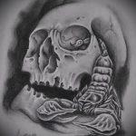 Оригинальный пример эскиза наколки армейская – рисунок подойдет для армейские татуировки пво