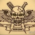 Прикольный вариант эскиза тату армейская – рисунок подойдет для армейские татуировки на руке