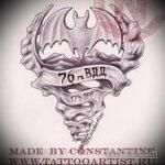 Классный пример эскиза наколки армейская – рисунок подойдет для татуировки мужские армейские