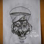 Интересный вариант эскиза тату армейская – рисунок подойдет для армейские татуировки вв мвд