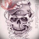 Крутой вариант эскиза тату армейская – рисунок подойдет для татуировки армейские вдв