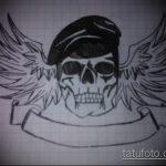 Классный вариант эскиза тату армейская – рисунок подойдет для татуировки мужские армейские