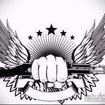Классный пример эскиза татуировки армейская – рисунок подойдет для армейские татуировки ввс