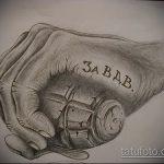 Прикольный пример эскиза тату армейская – рисунок подойдет для армейские татуировки летучая мышь