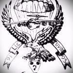 Оригинальный вариант эскиза тату армейская – рисунок подойдет для армейские татуировки ввс