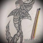 Крутой вариант эскиза татуировки АКУЛА – рисунок подойдет для тату полинезия акула