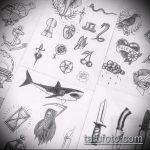 Классный пример эскиза татуировки АКУЛА – рисунок подойдет для тату акула шее