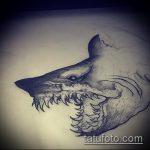 Зачетный вариант эскиза татуировки АКУЛА – рисунок подойдет для трайбл тату акулы
