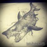 Классный вариант эскиза татуировки АКУЛА – рисунок подойдет для трайбл тату акулы