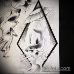 Зачетный пример эскиза тату АКУЛА – рисунок подойдет для пасть акулы тату