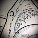 Уникальный вариант эскиза тату АКУЛА – рисунок подойдет для тату полинезия акула