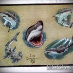Классный вариант эскиза тату АКУЛА – рисунок подойдет для трайбл тату акулы