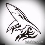 Оригинальный вариант эскиза наколки АКУЛА – рисунок подойдет для трайбл тату акулы