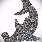 Уникальный вариант эскиза тату АКУЛА – рисунок подойдет для тату акула шее