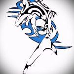 Зачетный пример эскиза татуировки АКУЛА – рисунок подойдет для тату полинезия акула