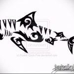 Классный вариант эскиза наколки АКУЛА – рисунок подойдет для трайбл тату акулы