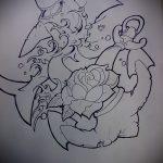 Крутой пример эскиза татуировки АКУЛА – рисунок подойдет для тату акулы плече