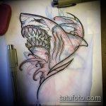 Интересный пример эскиза тату АКУЛА – рисунок подойдет для тату полинезия акула