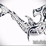 Уникальный пример эскиза тату АКУЛА – рисунок подойдет для тату акула молот