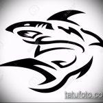 Оригинальный пример эскиза татуировки АКУЛА – рисунок подойдет для тату полинезия акула