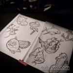 Классный вариант эскиза наколки АКУЛА – рисунок подойдет для тату акулы ноге
