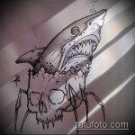 Зачетный вариант эскиза татуировки АКУЛА – рисунок подойдет для тату акула спине