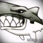Оригинальный пример эскиза тату АКУЛА – рисунок подойдет для трайбл тату акулы