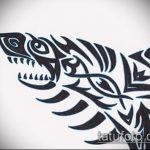 Оригинальный пример эскиза тату АКУЛА – рисунок подойдет для тату акула олд скул