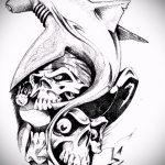 Уникальный вариант эскиза татуировки АКУЛА – рисунок подойдет для тату акулы плече