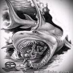 Прикольный вариант эскиза татуировки АКУЛА – рисунок подойдет для тату полинезия акула