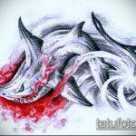 Классный пример эскиза тату АКУЛА – рисунок подойдет для тату акула олд скул