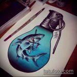 Зачетный вариант эскиза тату АКУЛА – рисунок подойдет для пасть акулы тату