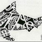 Классный пример эскиза тату АКУЛА – рисунок подойдет для тату полинезия акула