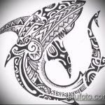 Интересный вариант эскиза татуировки АКУЛА – рисунок подойдет для тату акула молот