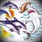 Оригинальный вариант эскиза тату АКУЛА – рисунок подойдет для тату акула молот