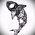 Уникальный пример эскиза тату АКУЛА – рисунок подойдет для пасть акулы тату