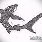 Крутой вариант эскиза татуировки АКУЛА – рисунок подойдет для тату акула олд скул