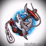 Уникальный вариант эскиза татуировки АКУЛА – рисунок подойдет для тату акула спине
