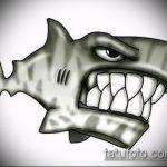 Оригинальный пример эскиза наколки АКУЛА – рисунок подойдет для трайбл тату акулы