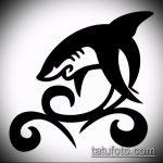 Крутой вариант эскиза татуировки АКУЛА – рисунок подойдет для тату акулы плече
