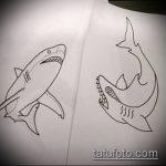 Классный вариант эскиза наколки АКУЛА – рисунок подойдет для тату акула шее