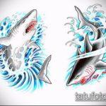 Зачетный вариант эскиза тату АКУЛА – рисунок подойдет для тату акула молот