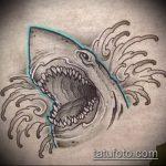 Оригинальный пример эскиза наколки АКУЛА – рисунок подойдет для тату полинезия акула