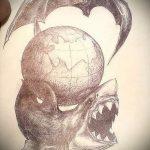 Крутой пример эскиза тату АКУЛА – рисунок подойдет для тату акулы ноге