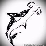 Уникальный вариант эскиза наколки АКУЛА – рисунок подойдет для тату акула спине