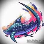 Уникальный пример эскиза тату АКУЛА – рисунок подойдет для тату акула олд скул