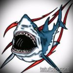 Крутой вариант эскиза наколки АКУЛА – рисунок подойдет для тату акула молот