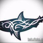 Прикольный пример эскиза татуировки АКУЛА – рисунок подойдет для трайбл тату акулы