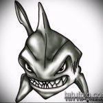 Классный вариант эскиза тату АКУЛА – рисунок подойдет для тату акула олд скул