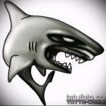 Уникальный пример эскиза тату АКУЛА – рисунок подойдет для тату полинезия акула